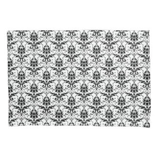 Chic Black and White Damask Pillow Case