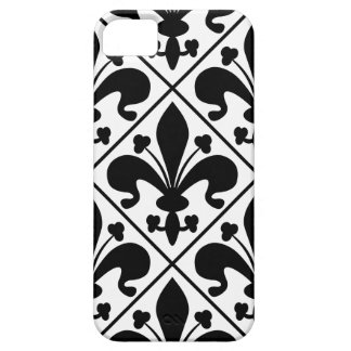 Chic Black and White Fleur de Lis iPhone 5 Cover