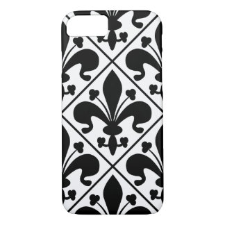 Chic Black and White Fleur de Lis iPhone 8/7 Case