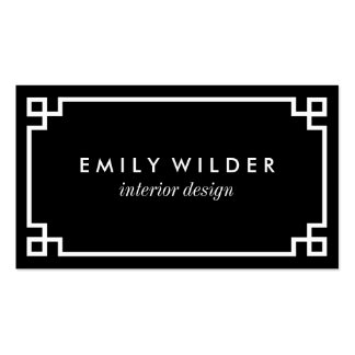 Chic Black and White Greek Key Pack Of Standard Business Cards