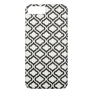 Chic black and white moroccan pattern ikat iPhone 8 plus/7 plus case