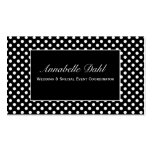 Chic Black and White Polka Dot Business Cards