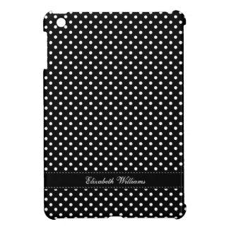 Chic Black and White Polka Dots Pattern iPad Mini Cover