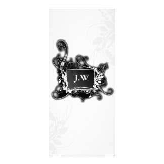 chic black and white Services rack card