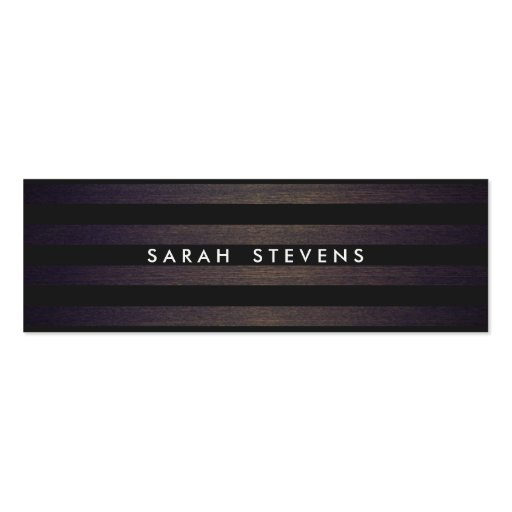 Chic Black and Wood Striped Modern Interior Design Business Card Templates
