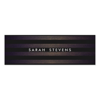 Chic Black and Wood Striped Modern Interior Design Pack Of Skinny Business Cards