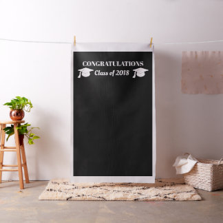 Chic Black Diy Graduate Photo Booth Backdrop