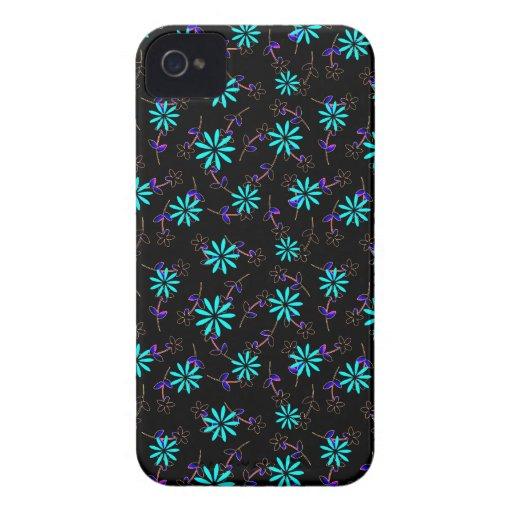 Chic Black Floral Sequel BlackBerry Bold Case-Mate