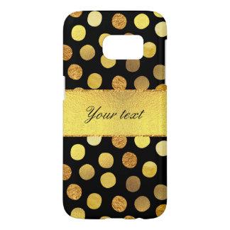 Chic Black Gold Foil Confetti Dots