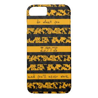 Chic Black Hearts Ornate Stripes Ladylike Stylish iPhone 8/7 Case
