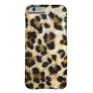 Chic Black Leopard Spots Barely There iPhone 6 Case
