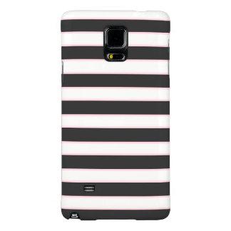 Chic Black Pink Striped Samsung Galaxy Note 4 Case