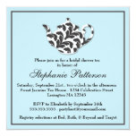 Chic Black & White Damask Bridal Shower Tea Party Personalized Invitations