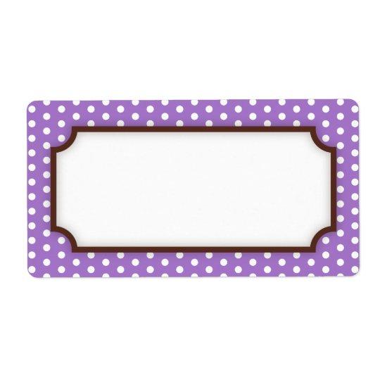 Chic blank purple violet polka dot dots pattern