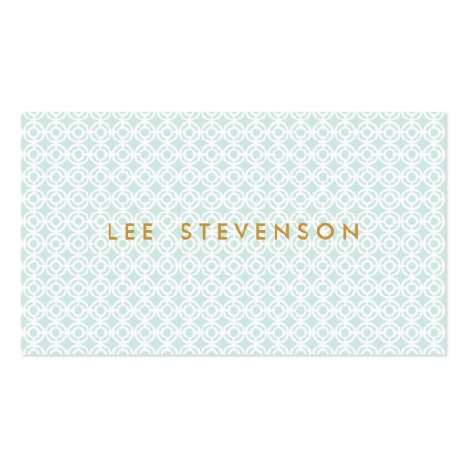 Chic Blue Business Card