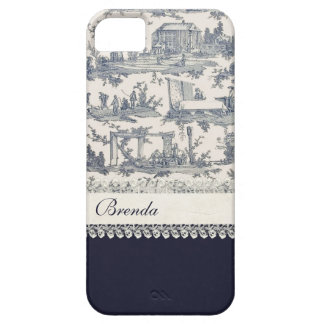 Chic Blue & Cream French Toiles Custom Barely There iPhone 5 Case