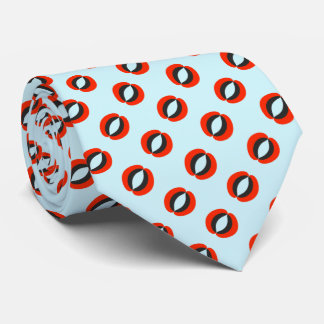 Chic Blue Red Black Pattern Tie