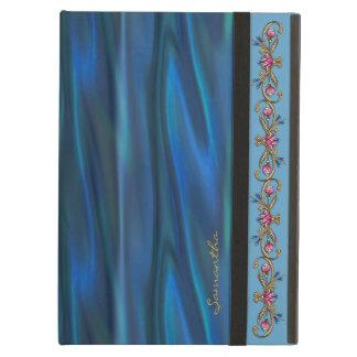 Chic Blue Satin Look Custom iPad Air Case