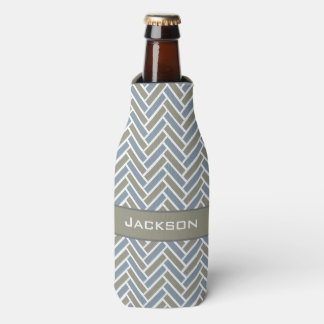 CHIC BOTTLE COOLER_MODERN HERRINGBONE