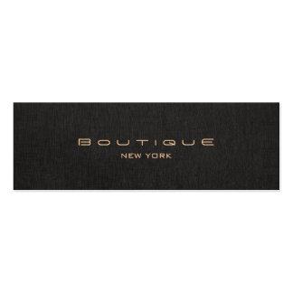Chic Boutique Faux Black Linen Professional Business Card