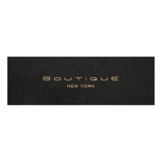 Chic Boutique Faux Black Linen Professional Pack Of Skinny Business Cards