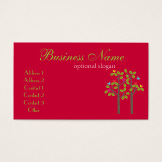 Chic Boutique Red Business Card