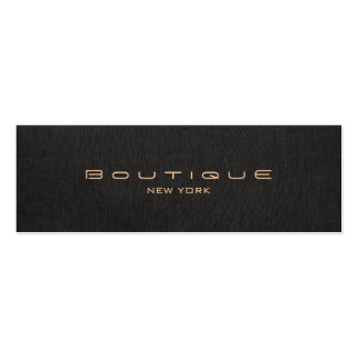 Chic Boutique Stylish Designer Faux Black Linen Pack Of Skinny Business Cards
