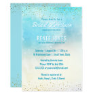 Chic Bridal Luncheon | Teal Blue Watercolor Shower Card