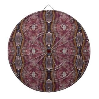 Chic Burgundy Rose Modern Tribal Pattern Dart Board