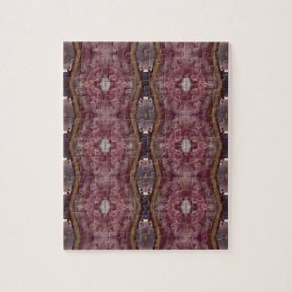 Chic Burgundy Rose Modern Tribal Pattern Jigsaw Puzzle