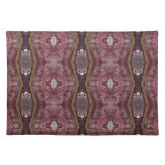 Chic Burgundy Rose Modern Tribal Pattern Placemat