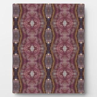Chic Burgundy Rose Modern Tribal Pattern Plaque