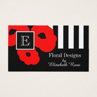 CHIC BUSINESS CARDS_MOD 01 RED POPPIES BUSINESS CARD