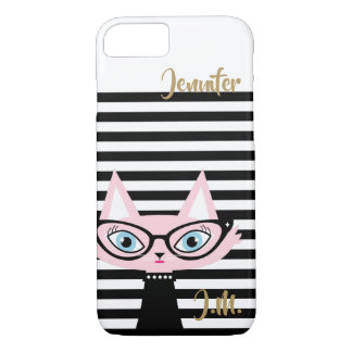Chic Cat Monogram iPhone 8/7 Case