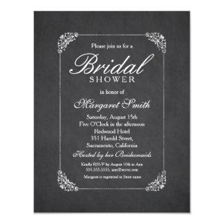 Chic Chalkboard 4.25x5.5 Bridal Shower Invitation