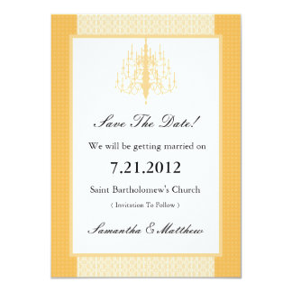 Chic Chandelier Save The Date Cards 11 Cm X 16 Cm Invitation Card