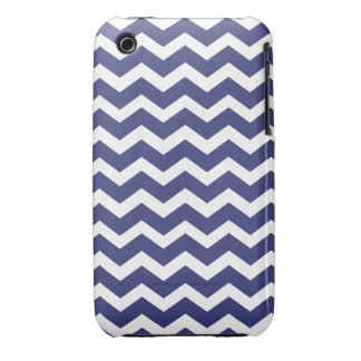 Chic Chevron iPhone 3G Case Navy and White Case-Mate iPhone 3 Cases