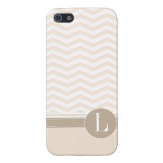 Chic Chevron Monogram | blush iPhone 5 Cases