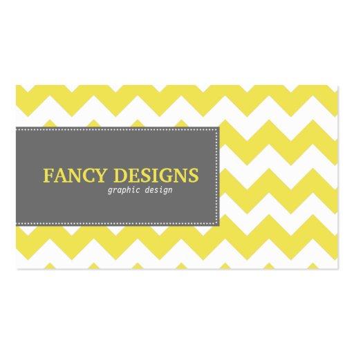 Chic Chevron Stripes Business Card