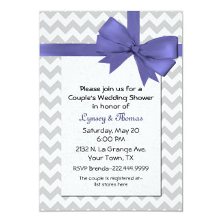 Chic Chevron Wedding Shower Invitation