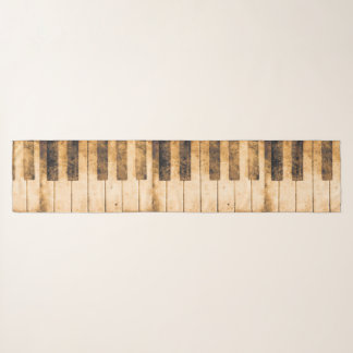 Chic Chiffon Jazz Distressed Piano  Scarf