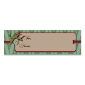 Chic Christmas Gift Tag Business Cards