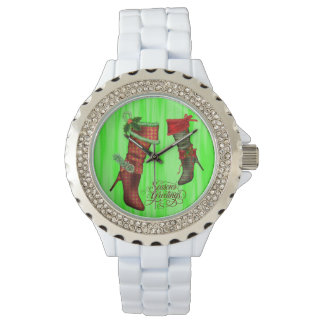 Chic Christmas Stocking Christmas Watch