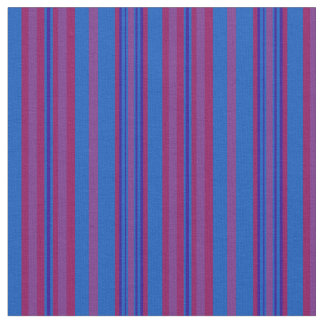 Chic Claret, Plum, Dark Blue, Light Blue Striped Fabric