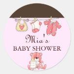 Chic Clothesline Baby Shower Sticker