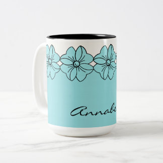 CHIC COFFEE MUG_GIRLY PANTONE 2017 ISLAND PARADISE Two-Tone COFFEE MUG