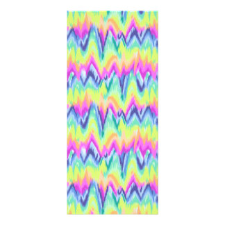 Chic Colorful Abstract Neon Chevron Pattern Rack Card