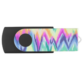 Chic Colorful Abstract Neon Chevron Pattern USB Flash Drive