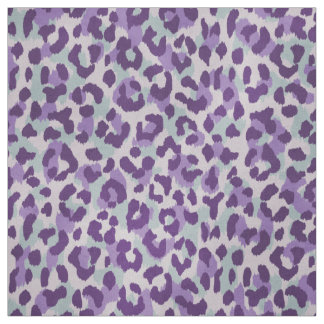 Chic colorful mint purple cheetah print pattern fabric