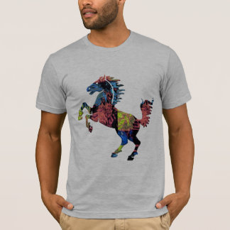 chic colorful mustang  action t-shirt design